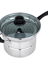 The Stainless Steel Single Bottom Multi-Purpose Noodles' Pot  22cm (Cooker Gas Wtove Universal)