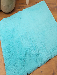 "Pure Colored Casual Style Polyester Fiber Material Non-Slip Soft Rectangle Mat W31"" x L47"""