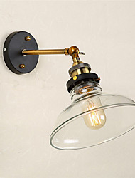 Industrial Edison Simplicity Glass Wall Lights Metal Base Cap Dining Room Cafe Bars Bar Table Hallway light Fixture