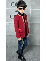 Boy's Linen Trench Coat,Fall Solid