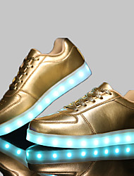 LED Light Up Shoes, 4 Color Shoes Unisex Shoes Casual Synthetic Fashion Sneakers Black / White / Silver / Gold