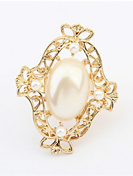 Ringe Damen / Paar / Unisex Künstliche Perle Legierung Legierung Verstellbar Gold