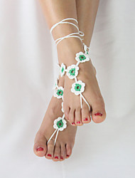 Women's Beach Wear Barefoot Flowers Crochet Sandals Ankle Bracelet Anklet  Barefoot Sandals