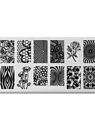 BlueZOO Rectangle Printing Nail Art Stamping (C-033)