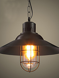 Max 60W Retro Mini Style Painting Metal Pendant LightsLiving Room / Bedroom / Dining Room / Kitchen / Study Room/Office