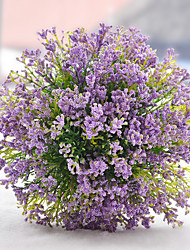 Cute Purple/Green Babysbreath Hand Made Flower Girl Bouquet