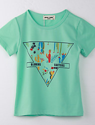 Girl's Polka Dot Tee,Cotton Summer Green