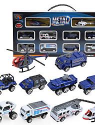 Dibang -0791 relação de dez deslizamento de 1:87 liga de liga leve modelo de carro mini-pacote de combinação carro da polícia (2 setspcs)