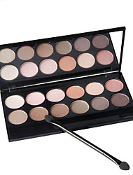 12 Color Crease Eye Shadow 3in1 Matte Shimmer&Glitter Palette Color with Brush&Mirror