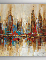 Hand Painted Oil Painting Landscape City Skyline with Stretched Frame 7 Wall Arts®