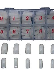 500 pcs blanc naturel plein d'une décoration autocollant faux pour obtenir des conseils d'art doigt conseils acryliques à ongles
