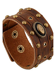 Unisex Alloy Leather Handcrafted Vintage Bracelets Jewelry