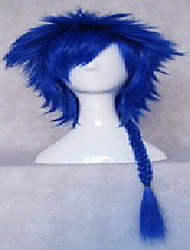 New Stylish  Man's Cosplay Wig Synthetic Hair Wigs Knitting Long Curly Animated Wigs Weaving Blue Party Wigs