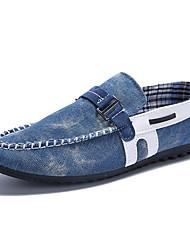 Черный / Синий Мужская обувь На каждый день Деним Лоферы