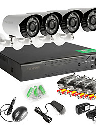 8CH 960H Network DVR  4PCS  AHD Outdoor CCTV Security Cameras System