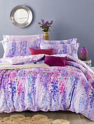 4PC Duvet Cover Set  Fresh Style Cotton Pattern Queen King Size Flower
