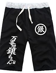 Вдохновлен Джинтама Gintoki Sakata Аниме Косплэй костюмы Косплей вершины / дна Однотонный Черный / серый Шорты
