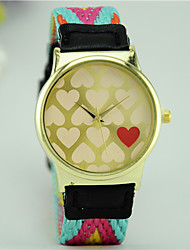 Women's Fashion Watch Quartz Fabric Band Bohemian Multi-Colored Brand
