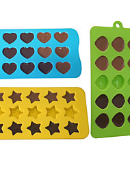 Stars Shells and Hearts Silicone Ice Icube Trays Molds Candy Mold Jelly Chocolate Moulds,Set of 3