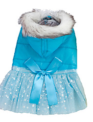Dog Dress / Clothes/Clothing Blue / Yellow / Rose Winter Stars