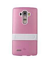 Pour Coque LG Antichoc Avec Support Coque Coque Arrière Coque Armure Dur Silicone pour LG LG G4