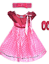 Performance Dresses Children's Performance Spandex / Polyester Flower(s) / Sash/Ribbon / Leopard 2 Pieces Sleeveless HighDress /
