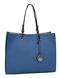 Bolsa de Ombro / Tote / Bolsa Corpo Cruz-Feminino-Sacola-Azul-PU
