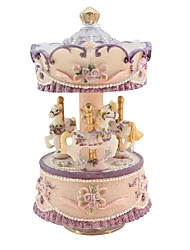 ABS Purple/Yellow Creative Romantic Music Box for Gift
