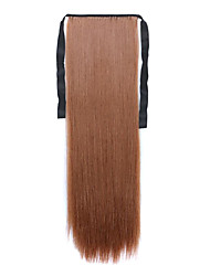 Borwn Length 60CM Synthetic Bind Type Long Straight Hair Wig Horsetail(Color 30B)