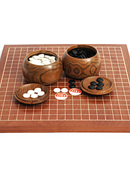 Royal St Go Chess Set Two-Sided Dual-Use Chessboard Game Suits Chinese 2.5 Cm + + Chess Board Wood Tank Type B Single