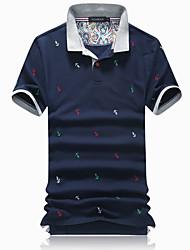 Herren Freizeit Polo - Druck Kurz Baumwolle / Polyester