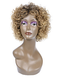 Natural Short Multi-color Popular Curly Synthetic Wig For Woman