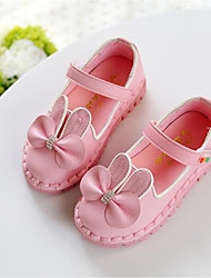 Girl's Flats Spring Comfort Leatherette Outdoor Pink Red White