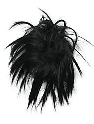 парик черный 10см высокотемпературный провод цветение бутона цвет 2