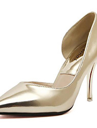 Women's Shoes Synthetic Stiletto Heel Heels Heels Wedding /Office & Career/ Party & Evening/Dress/Casual Silver/Gold