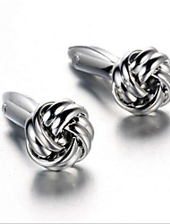 Unisex Fashion Silver Alloy French Shirt Cufflinks (1-Pair)