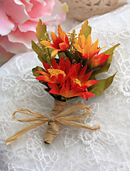 Wedding Flowers Simple Free-form Peonies Boutonnieres