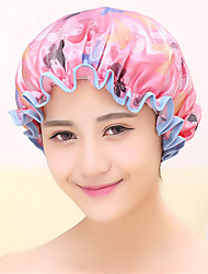 Colorful Printed Soft Satin Fabric Shower Cap