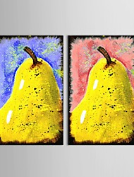 Handpainted Oil Paintings Fruit Pear Restaurant Decoration Wall Art with Stretched Frame Ready To Hang