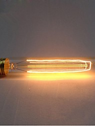 E27 AC220-240V 40W Silk Carbon Filament Incandescent Light Bulbs T185 Around Pearl
