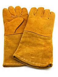 cowhide heat insulation protect High temperature resistance glove