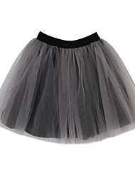 Girl's Jacquard Skirt,Cotton Summer Black