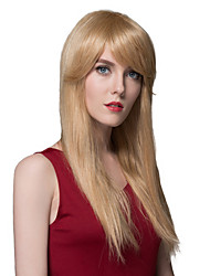 Silky Sylish Straight Human Virgin Remy Hand Tied-Top Capless Woman's Hair Wig