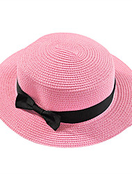 England Bow Spring And Summer Female Beach Sun Flat Top Hat