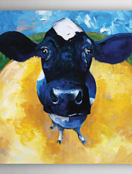 ручная роспись маслом животное корова сказка с растянутой кадр
