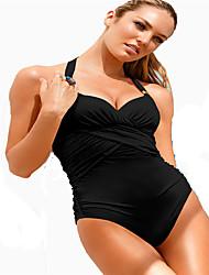 Bikinis(Blanco / Negro) -Secado rápido / Compresión- paraMujer