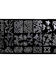 BlueZOO Rectangle Forest Garden Nail Art Stamping (BC-12)