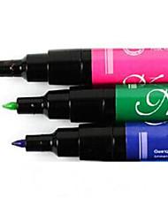 Manicure Painting Brushwork Art Manicure Pen Pen Set Nail Art Pen DIY Nail Green&Blue&Red 3Pcs