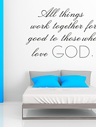 AYA™ DIY Wall Stickers Wall Decals,  Love God Bible Verse PVC Wall Stickers