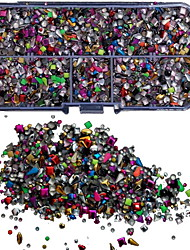 5000PCS Mix Colorful Studs Rviets Box Nail Art Decoration